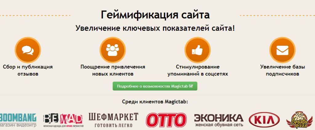 Сервис Magictab